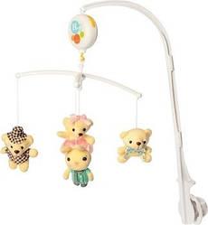 """Детская музыкальная карусель на кроватку Limo Toy """"Мишки"""" на батарейках, 38х28х6 см, разноцветный"""