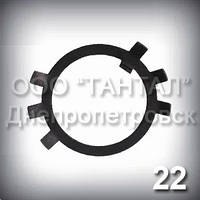 Шайба 22 ГОСТ 11872-89 стопорная многолапчатая