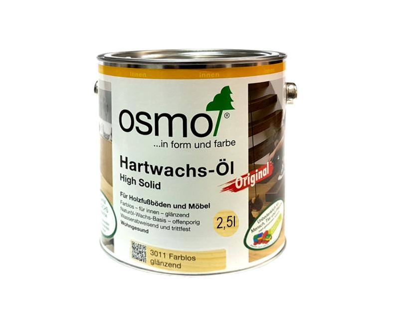Масло з твердим воском OSMO HARDWACHS-OL ORIGINAL для підлоги та виробів з деревини 3011-глянцева 2,5 л