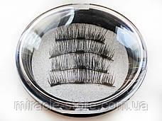 Магнитные ресницы Magnet Lashes Professional Eye Lash 3 магнита 3D эффект круглый футляр, фото 3