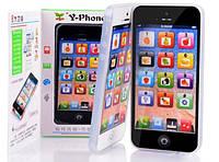 Детский музыкальный телефон Y-Phone, сенсорный смартфон iPhone 4s, фото 1