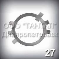 Шайба 27 оцинкована ГОСТ 11872-89 стопорная многолапчатая