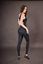 Комбинезон женский с открытой спиной спортивный