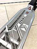 Двухколесный самокат ITrike SR 2-018 дисковый тормоз Серый, фото 5
