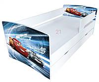 Детская кровать с бортиком машина для мальчиков 170*80см Kinder Cool - 2020