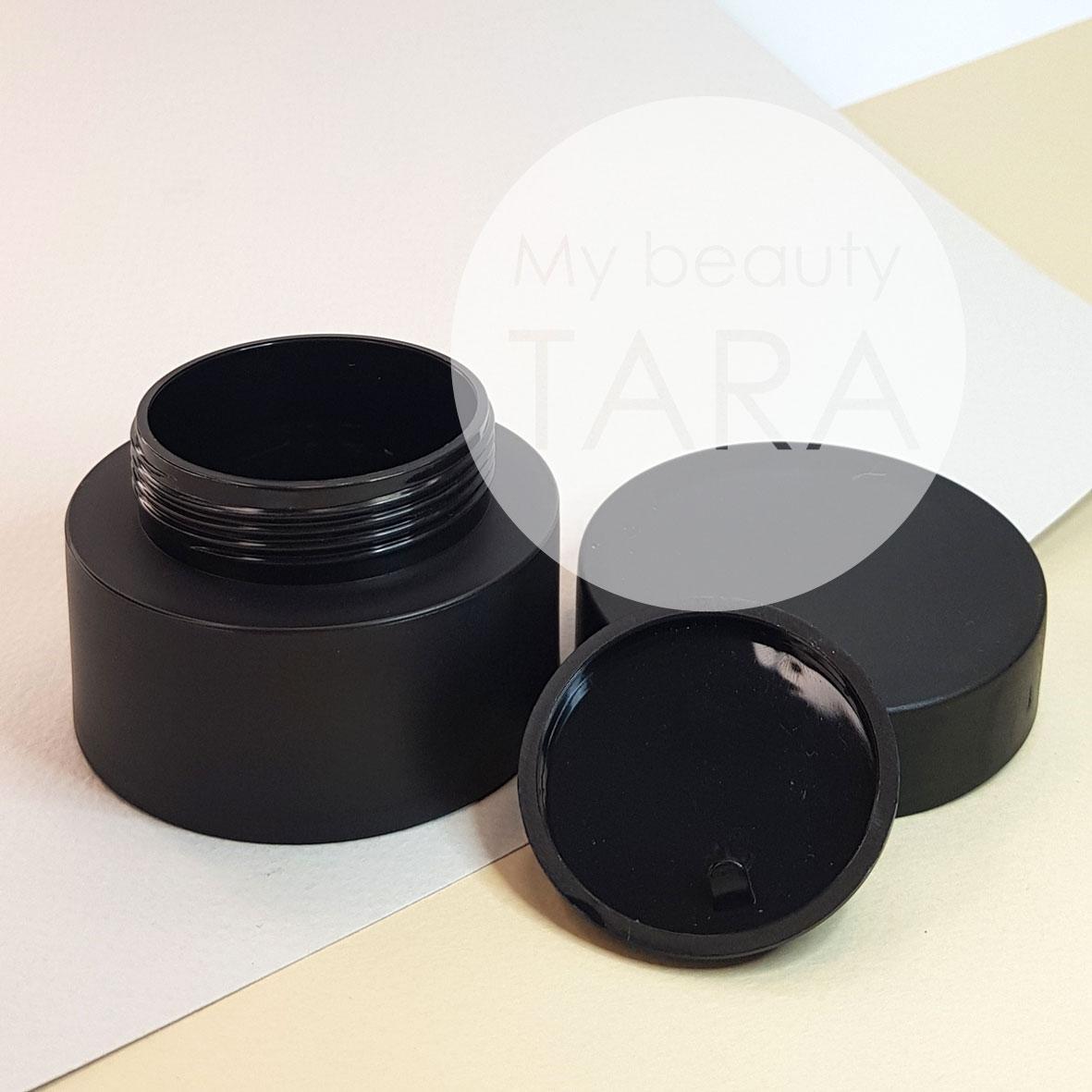 Баночка 50 мл пластиковая Элиза, черная