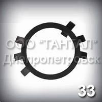 Шайба 33 ГОСТ 11872-89 стопорная многолапчатая