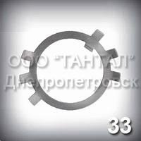Шайба 33 оцинкована ГОСТ 11872-89 стопорная многолапчатая