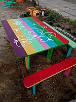 Деревянный столик Песочницы, качели, декор для сада Изделия из дерева для Вашего дома