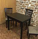 Стіл кухонний розкладний обідній Прага венге - венге 90*60(120)*75см, фото 2
