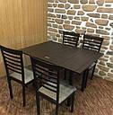 Стіл кухонний розкладний обідній Прага венге - венге 90*60(120)*75см, фото 3