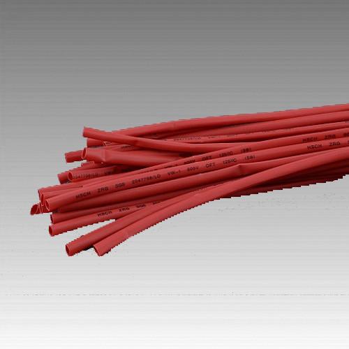 Термоусаживаемая трубка 5мм червоний (пак 1м*30шт)