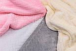 Лоскут плюша косичка белого цвета, размер 40*160 см, фото 5