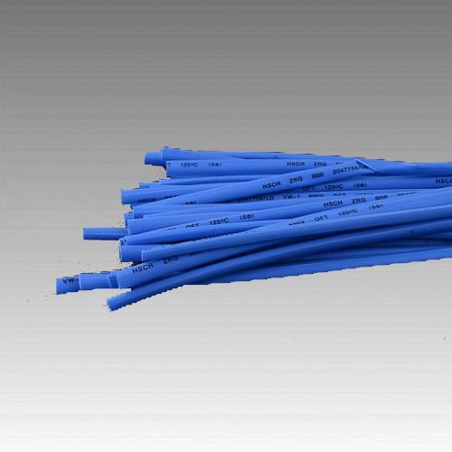 Термоусаживаемая трубка 5мм синій (пак 1м*30шт)