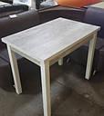 Стол кухонный раскладной обеденный Прага аляска -белый 90*60(120)*75см, фото 7