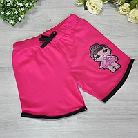 """Новинка! СВІТЯТЬСЯ дитячі літні шорти """"LOL"""", для дівчаток (8-12 років)(5 од. уп. ), Рожевий"""