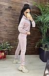 Плюшевый женский спортивный костюм   Норма, фото 3
