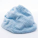 Лоскут плюша косичка голубого цвета, размер 70*150 см, фото 2