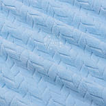 Лоскут плюша косичка голубого цвета, размер 70*150 см, фото 4