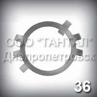 Шайба 36 оцинкована ГОСТ 11872-89 стопорная многолапчатая