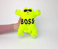 Кот Саймон Boss в машину на стекло игрушка на присосках - подарок шефу, боссу, начальнику