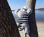 Кот Саймон Моряк на присосках - Игрушка в машину - Сувенир в машину Кот Саймон - Подарок моряку, фото 8