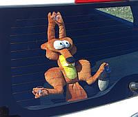 Автоигрушка на присосках Белка из Ледникового периода - Игрушка на стекло в машину - Подарок водителю