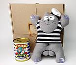 Подарочный набор моряку: Кот Саймон Моряк на присосках и консервированные носки самого крутого моряка, фото 5