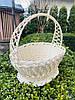 Великодній кошик білий, Плетений кошик з лози 36х25х36