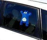 """Подарок мужчине в авто """"Саймон в дороге"""": кот Саймон (синий) в машину на стекло и стакан для кофе в дорогу, фото 4"""