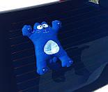 """Подарок мужчине в авто """"Саймон в дороге"""": кот Саймон (синий) в машину на стекло и стакан для кофе в дорогу, фото 5"""
