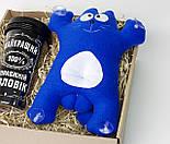 """Подарок мужчине в авто """"Саймон в дороге"""": кот Саймон (синий) в машину на стекло и стакан для кофе в дорогу, фото 9"""