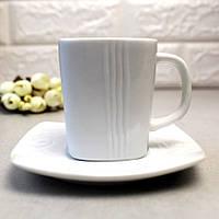Чайная чашка белая HLS Horeca 250 мл+блюдце (HR1314), фото 1