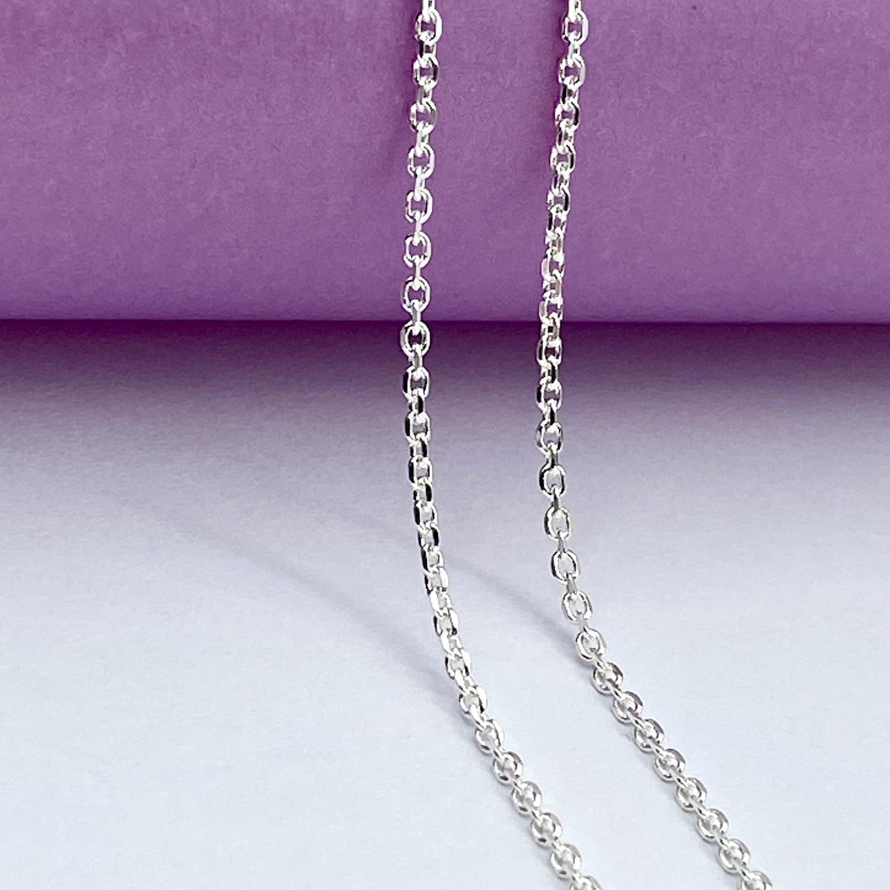 """Срібна ланцюжок """"Якірна"""" ,довжина 40см, товщина 0,5 мм"""