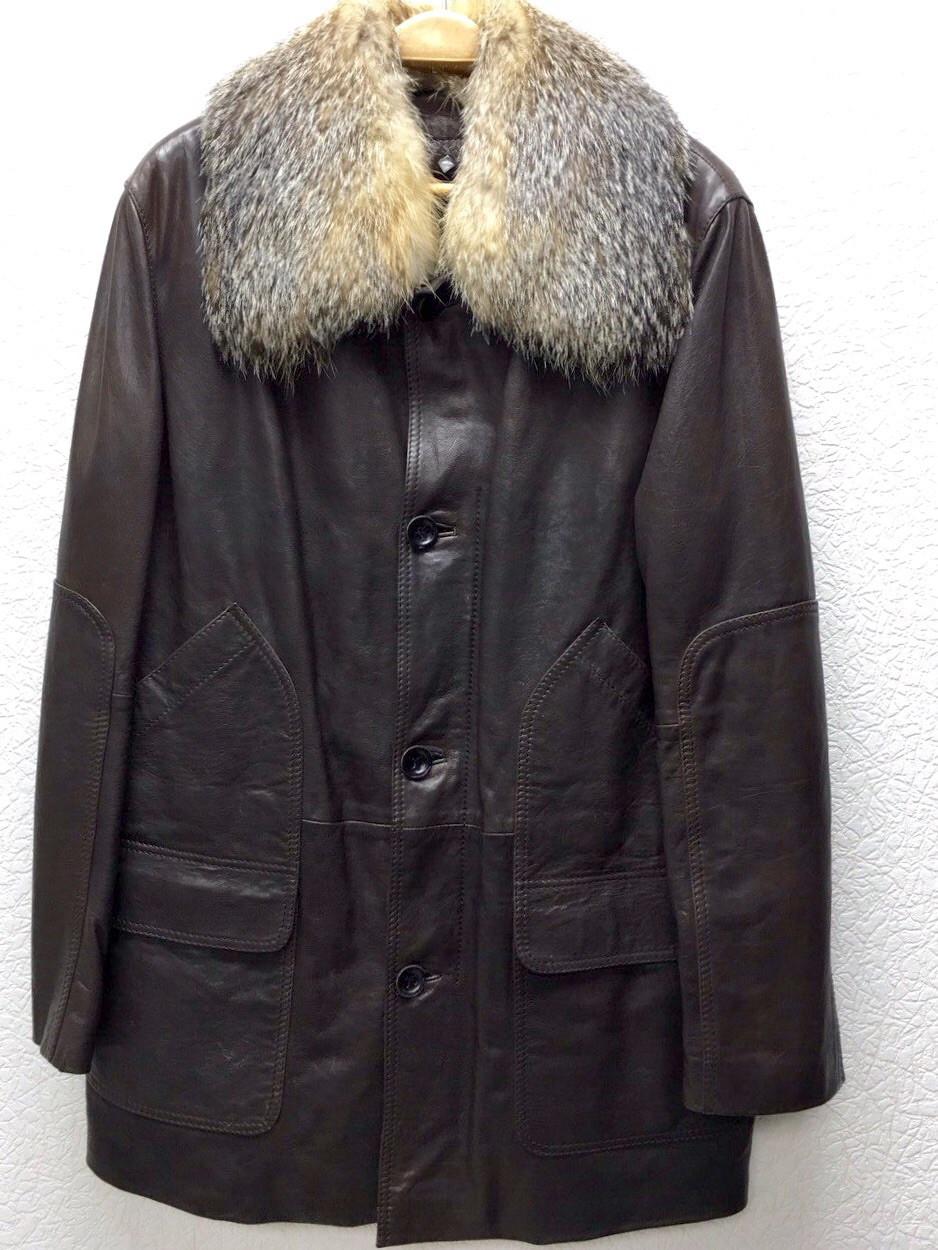 Куртка мужская ADAMO кожаная натуральная на меху с воротником
