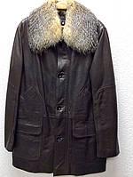 Куртка мужская ADAMO кожаная натуральная на меху с воротником, фото 1