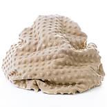 Клаптик плюшу minky класичного бежевого кольору, розмір 35*160 см, фото 2