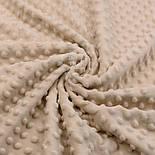 Лоскут плюша minky классического бежевого цвета, размер 35*160 см, фото 3