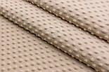 Лоскут плюша minky классического бежевого цвета, размер 35*160 см, фото 4
