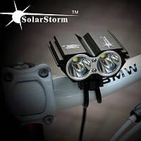 Вело фара solarstorm USB два диода.