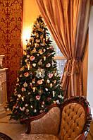 Аренда новогодней елки 2,7м с декором класса люкс на мероприятие, посуточно