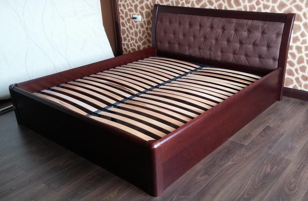 Дерев'яне ліжко Княжна з підйомним механізмом