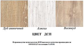 Стіл обідній Тайм 750/1600х750 в стилі Лофт, труба 80х80 (колір стільниці і ніжок на вибір), фото 2
