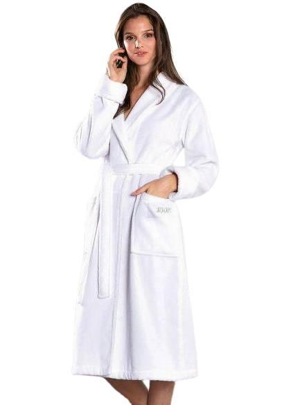 Махровый женский халат большого размера, р.62 JOOP!. Цвет: белый