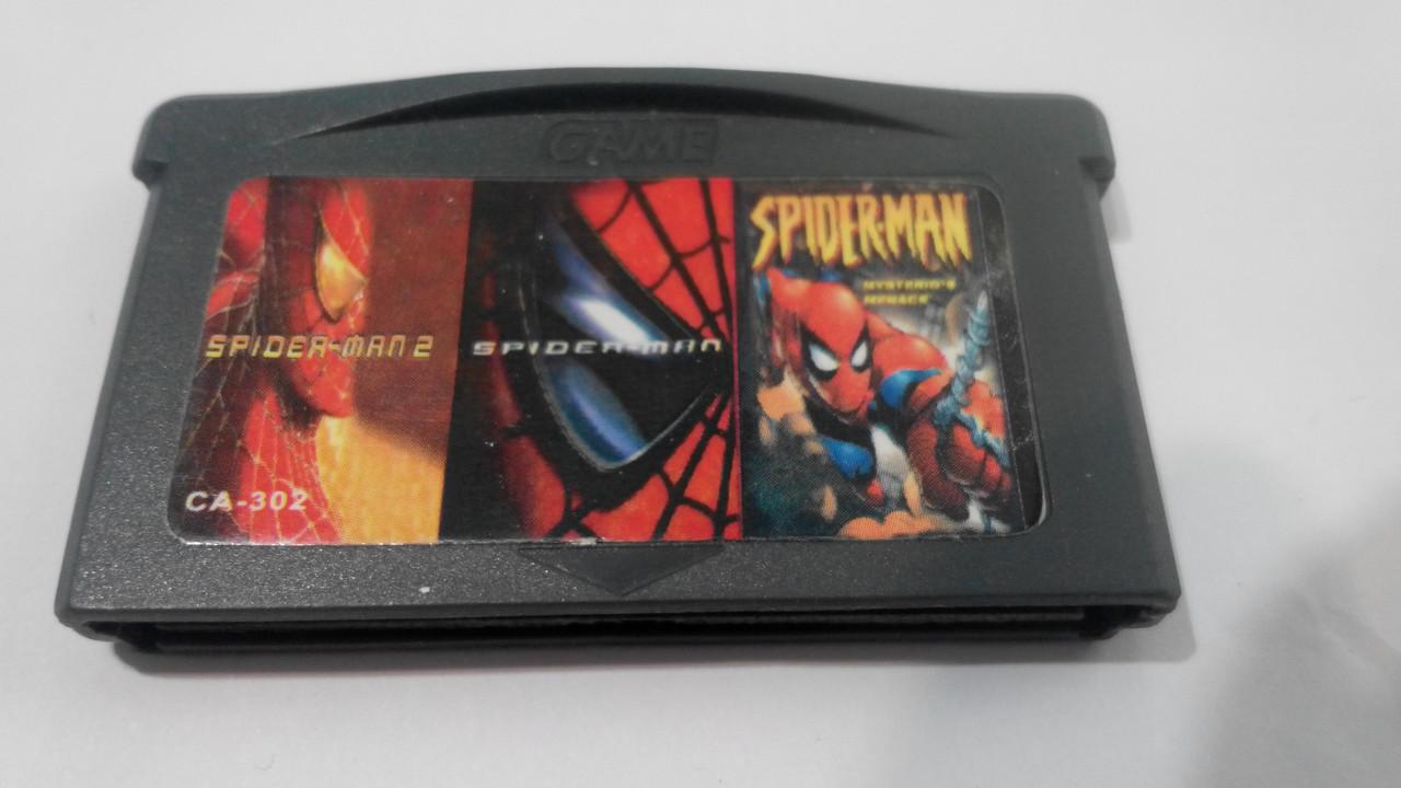 Ігровий картридж для GAME BOY ADVANCE GB 3 in 1 Spider-Man