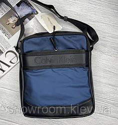 Мужская брендовая сумка на плечо (060) синяя