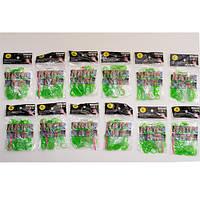 Резинки для Плетения / Зеленый / 200 шт в пак./ 12 пакетиков в уп.