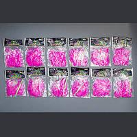 Резинки для Плетения / Малиновый / 200 шт в пак./ 12 пакетиков в уп.