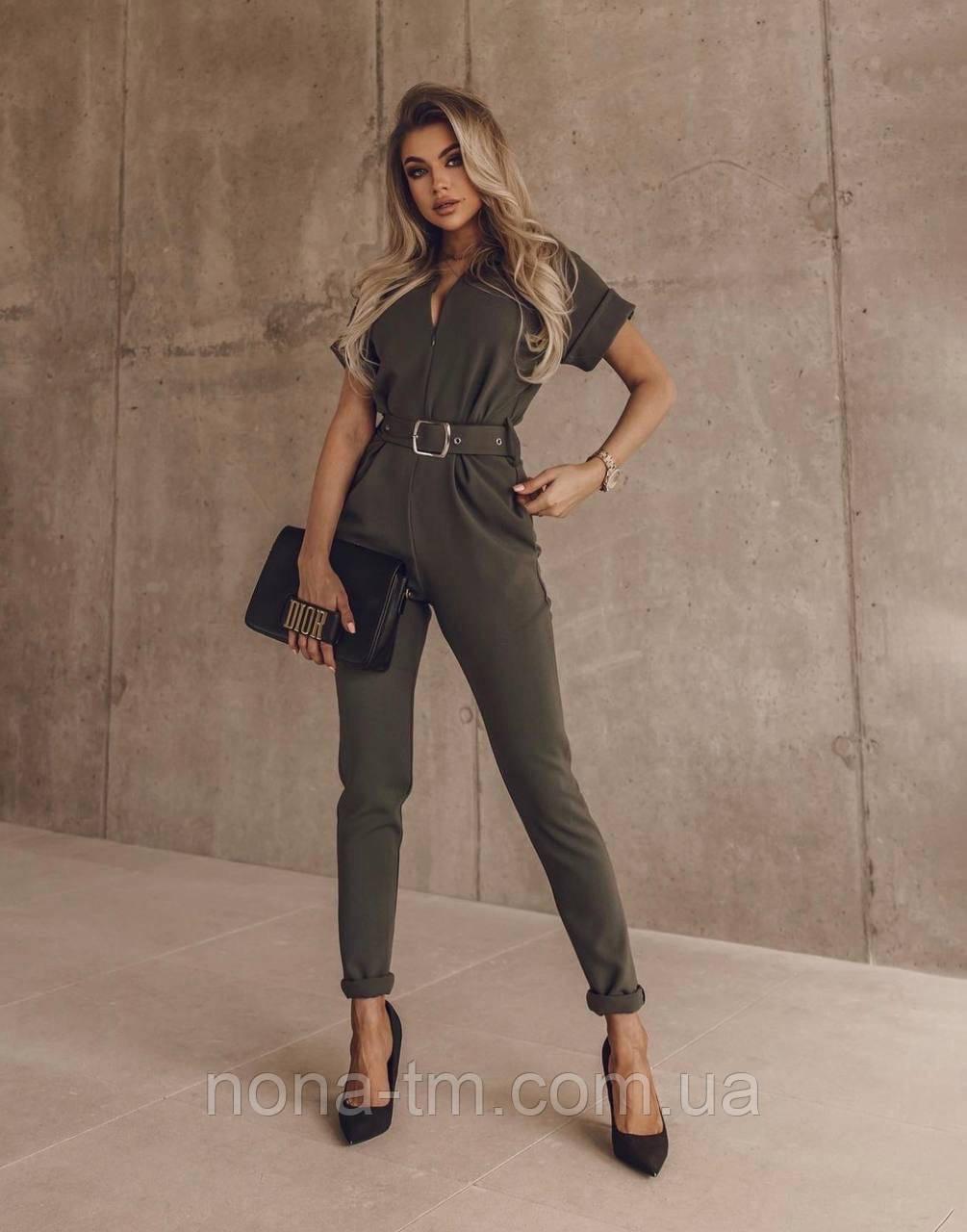 Модный комбинезон женский с брюками