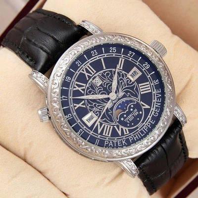 Часы наручные Patek Philippe Grand Complications 6002 Sky Moon Black-Silver-Black